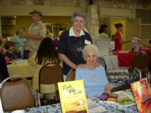 Phyllis Moses and Marge Boyd - Founders of the Hill Country Book Festival, 2011